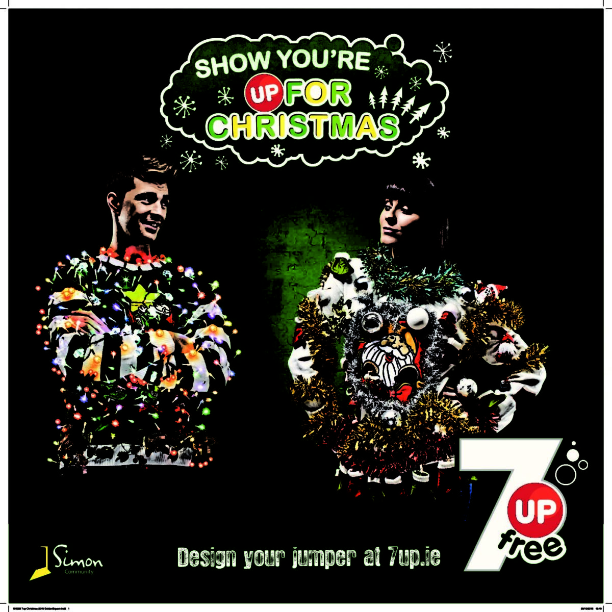 Louize Carroll in 7Up's Christmas Campaign