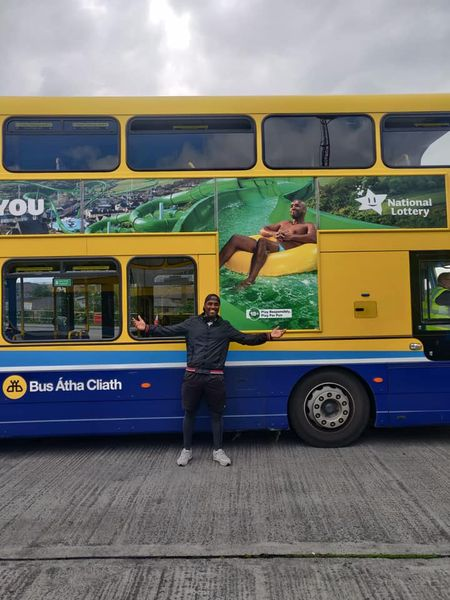 SPOTTED 🚌 Leandro for the Lotto on the side of a bus 📸